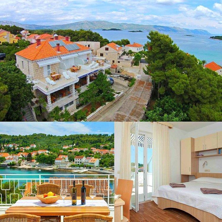 Отели и апартаменты с роскошным видом на море. Хорватия