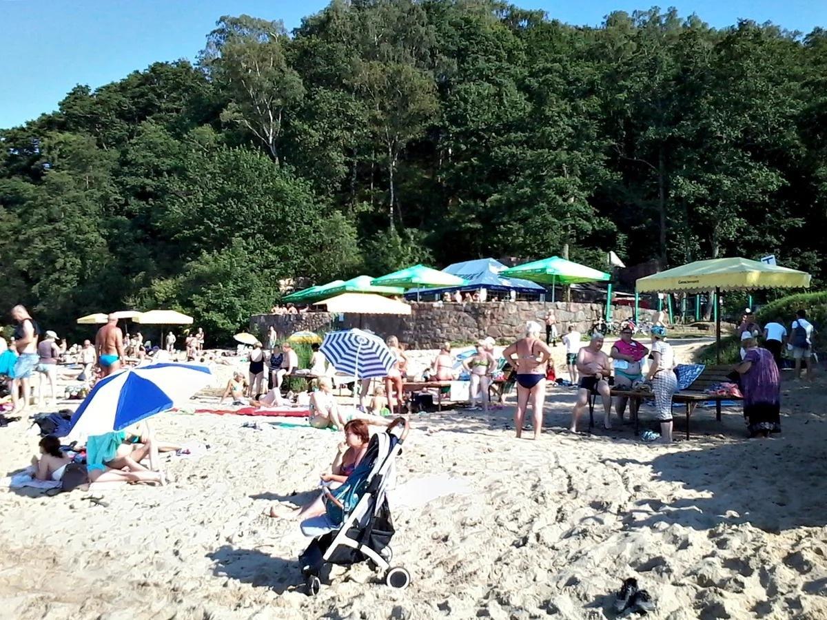 В Светлогорске есть запасной пляж. Но не все гости курорта об этом знают