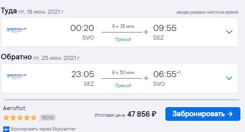Новинка сезона: летим с Аэрофлотом на Сейшелы из Москвы от 47800₽ туда-обратно
