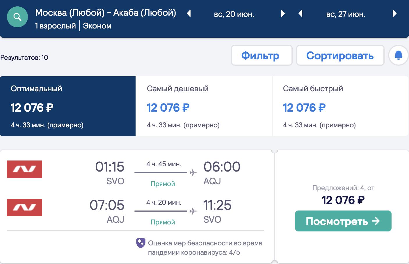 Иордания для самостоятельных: дешевые рейсы из Москвы в Акабу от 11600₽ туда-обратно (новые даты)