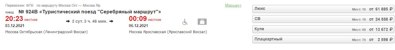 Почти идеальный туристический поезд от РЖД: Псков, Ярославль, Великий Новгород и Рыбинск на выходные за 2600 рублей
